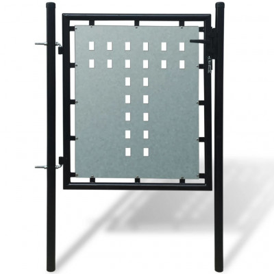 Portillons Portillon de jardin Single Noir 100 x 125 cm