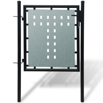 Portillons Portillon de jardin Single Noir 100 x 150 cm