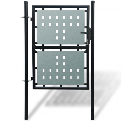 Portillons Portillon de jardin Single Noir 100 x 175 cm