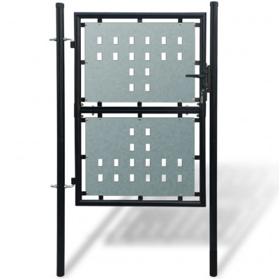 Portillons Portillon de jardin Single Noir 100 x 225 cm