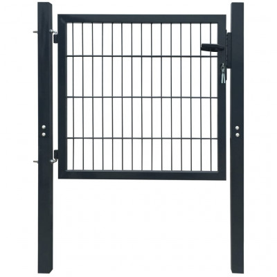 Portillons Portillon de jardin 2D (Single) Gris anthracite 106 x 130 cm
