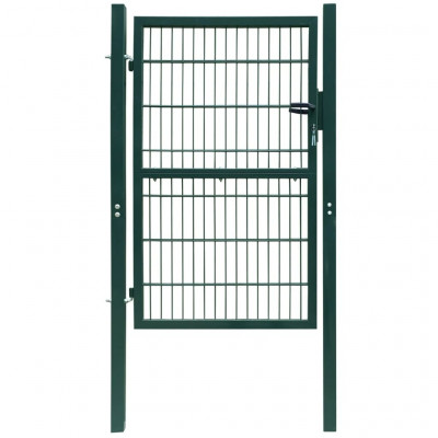 Portillons Portillon de jardin 2D (Single) Vert 106 x 210 cm