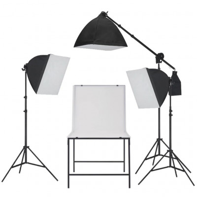 Lampes studio & flashs Kit de studio de photo avec table de prise de photos