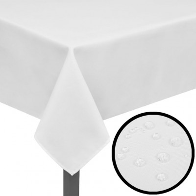 Housses 5 Nappes de table Blanc 250 x 130 cm