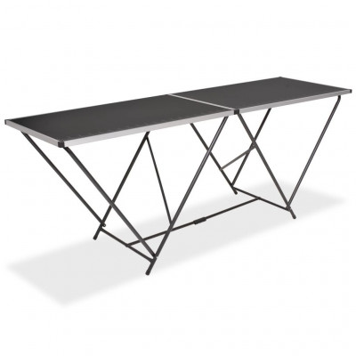 Tables pliantes  Table pliable de collage MDF et aluminium 200 x 60 x 78 cm