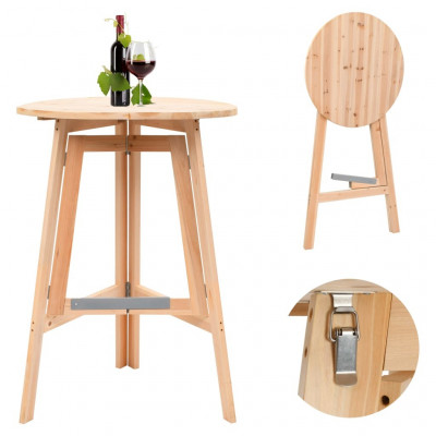 Tables pliantes  Table de bar pliable 78 cm Bois de sapin