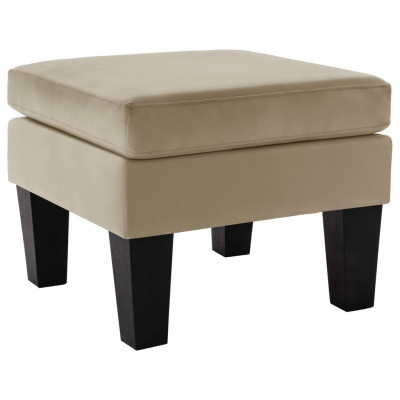 Poufs  Repose-pied Cappuccino Similicuir