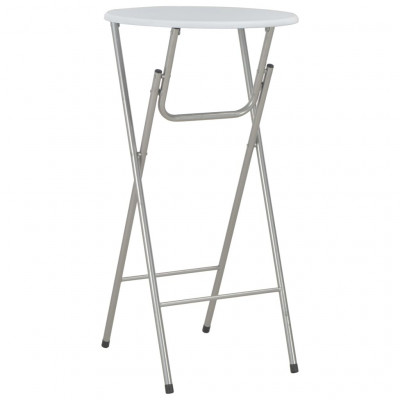 Tables pliantes Table de bar Blanc 60x112 cm MDF