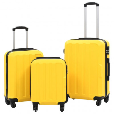 Valises  Valise rigide 3 pcs Jaune ABS