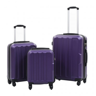 Valises  Valise rigide 3 pcs Violet ABS