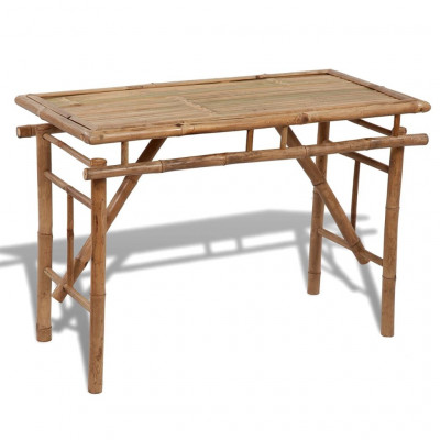Tables de jardin  Table pliable de jardin 120x50x77 cm Bambou