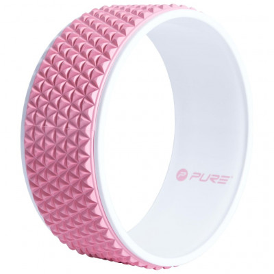 Pilates & yoga Pure2Improve Roue de yoga 34 cm Rose et blanc