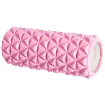 Rouleaux en mousse Pure2Improve Rouleau de yoga 33x14 cm Rose et blanc
