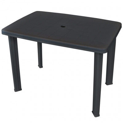 Tables de jardin  Table de jardin Anthracite 101 x 68 x 72 cm Plastique