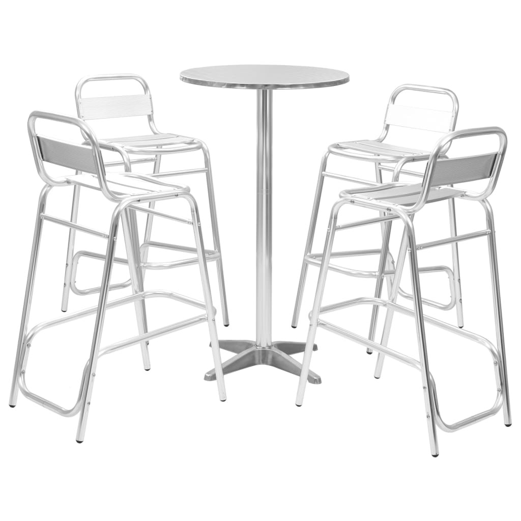 Salons de jardin Ensemble de bar 5 pcs avec table ronde