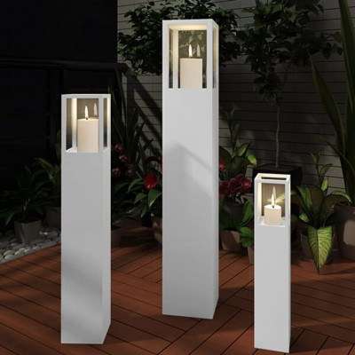 """Garden Lights Lampe LED de terrasse """"Alpha"""" Acier inoxydable"""