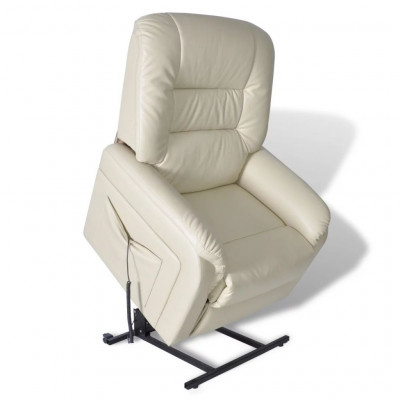 Fauteuils  Fauteuil inclinable TV Beige Similicuir